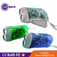 Best promotional gift mini dynamo led flashlight hand crank,hand pressing flashlight wind up,led dynamo torch light