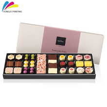 customized cardboard printed luxury chocolate bar box with paper divider