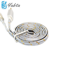 Yabta Braided Cable Charger For Apple iPhone Cord 8Pin Nylon Braided Ribbon USB Cable