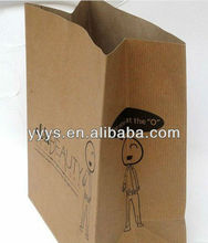 custom printed stand up kraft paper bag with your own logo kraft paper bag/kraft paper bag for food