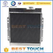 High performance motor car aluminum and plastic radiator for rx7