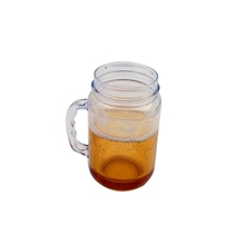 promotional cheapest double wall plastic freezer beer mug with special handle