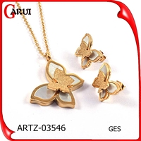 alibaba gold plated latest design bridal jewelry set
