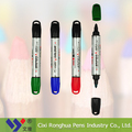 Factory hot sale fashion cute design professional dry eraser double tip marker pen