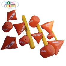 Floating marker buoy, water buoy <strong>inflatable</strong> triangle buoys for sale