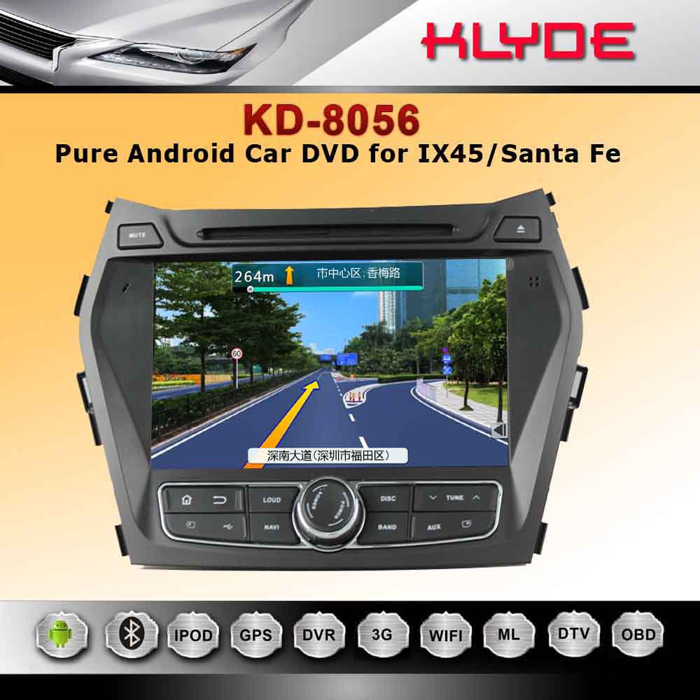 Android car dvd player with reversing camera for IX45/Santa Fe 2013