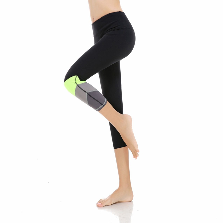 Exercise for Women Nylon Colored Capris Tights 3/4th Yoga Leggings