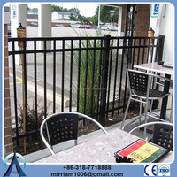 Cheap wrought iron fence panels for sale / galvanized steel fence / Ornamental Fence