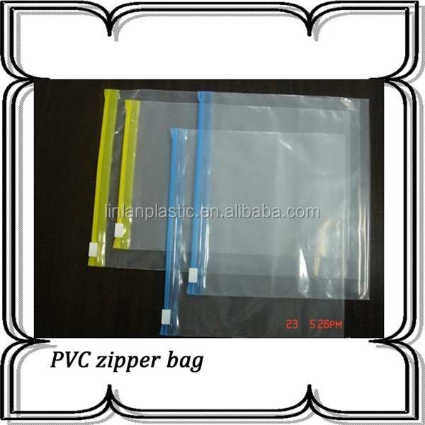 slider ziplock closure pvc packing bag with printing