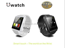 Competitive price touch screen U8 smart watch with bluetooth pedometer and push for Android