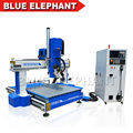 Blue Elephant Cnc Router Desktop Portable Auto Tool Changer 4 Axis 1212 with the The Spindle can Swing