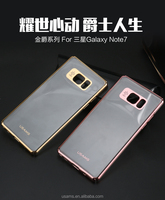 new products 2016 electroplate Plating PC back case for samsung galaxy note 7