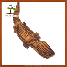 Wholesale Green Simulation Model Puzzle Toy Animals Moving Walking Wooden Animal Crocodile Toy