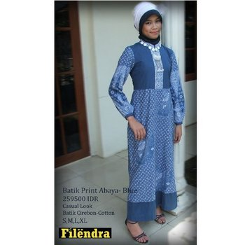 Batik Print Abaya Blue Clothing