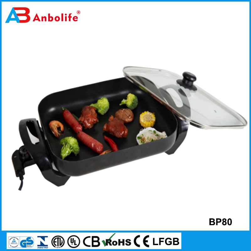 Anbo Family Frying Pizza Pan Electric Skillet Cooker