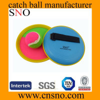 Printing logo beach bat and ball set velcro catch ball