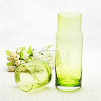 Simple light green water pitcher and cup household drinking glass water pitcher set easy to carry