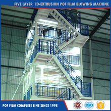 Five Layer Co-Extrusion Pof shrink film blowing machine