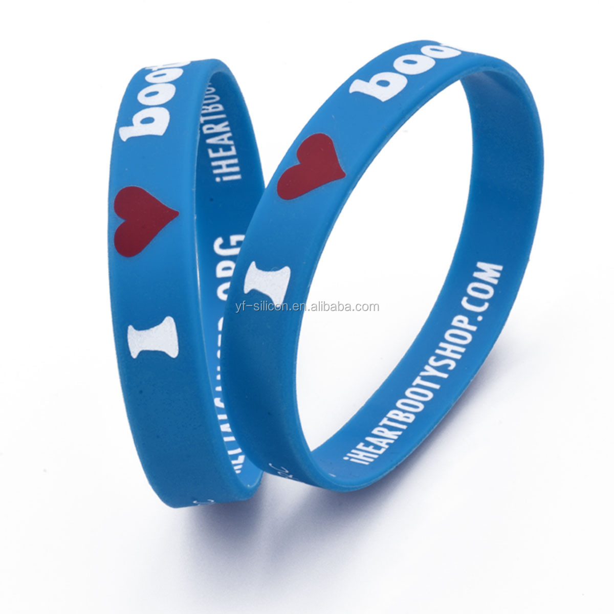 Wholesale Custom Brand Name Silicone Rubber Wristband