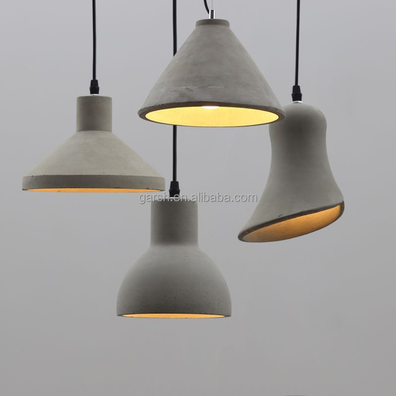 Loft Industrial Decor Furniture Indoor Modern Concrete Pendant Lamp