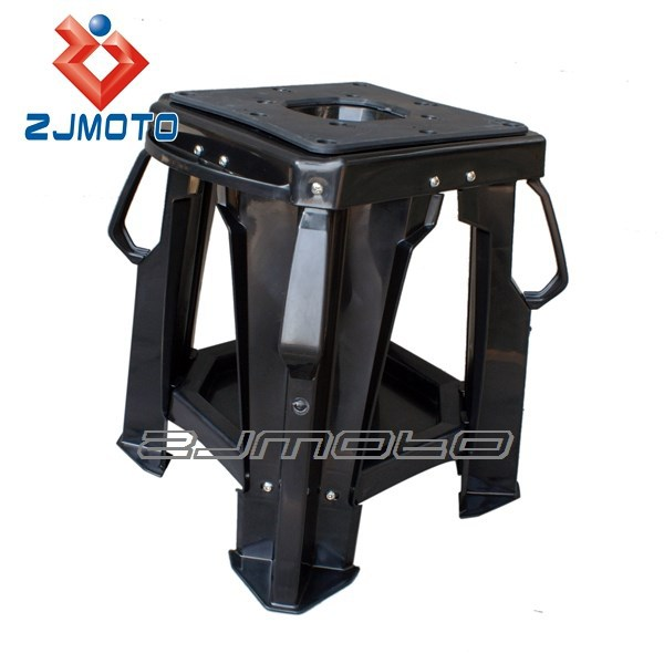 BLACK LIGHT WEIGHT SUPER STRONG ABS PLASTIC WORK REPAIR STAND Dirt Bike Stand FOR KAWASAKI KX KLX 250