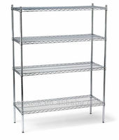 Rolling chrome wire shelving