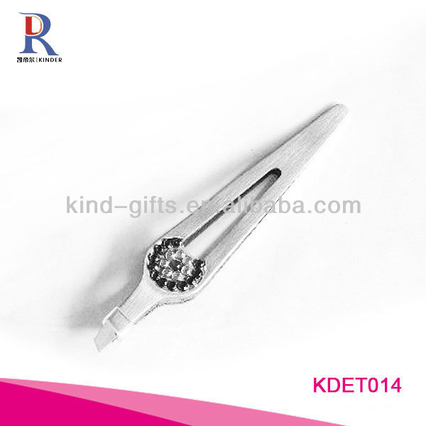 Professional Beautiful Girls Bling Crystal Tweezers For Eyelash Extensions Manufactory
