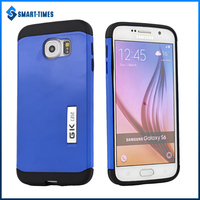 [Smart Times] New OEM Design With Holder Custom Logo 2 in 1 TPU+PC Combo Case For Samsung Galaxy S6 Cover