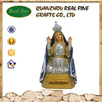 Custom religious seated our lady resin statue for decoration