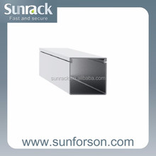 SunRack metal aluminum wiring cable Channel Ducts