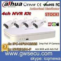 dahua diy nvr kit h.264 network video recorder 4ch ip camera nvr kits with 4ch poe 4 ir bullet poe ip camera kit