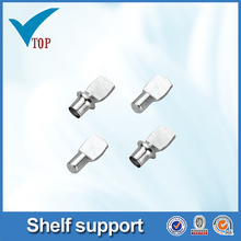Metal shelf pin with screw pin for furniture support