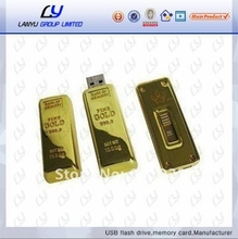 golden usb flash drive housing, medical promotional gifts usb flash drive