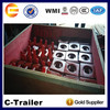 made china Chengda brand high quality sale flatbed semi trailer trailer container twist lock