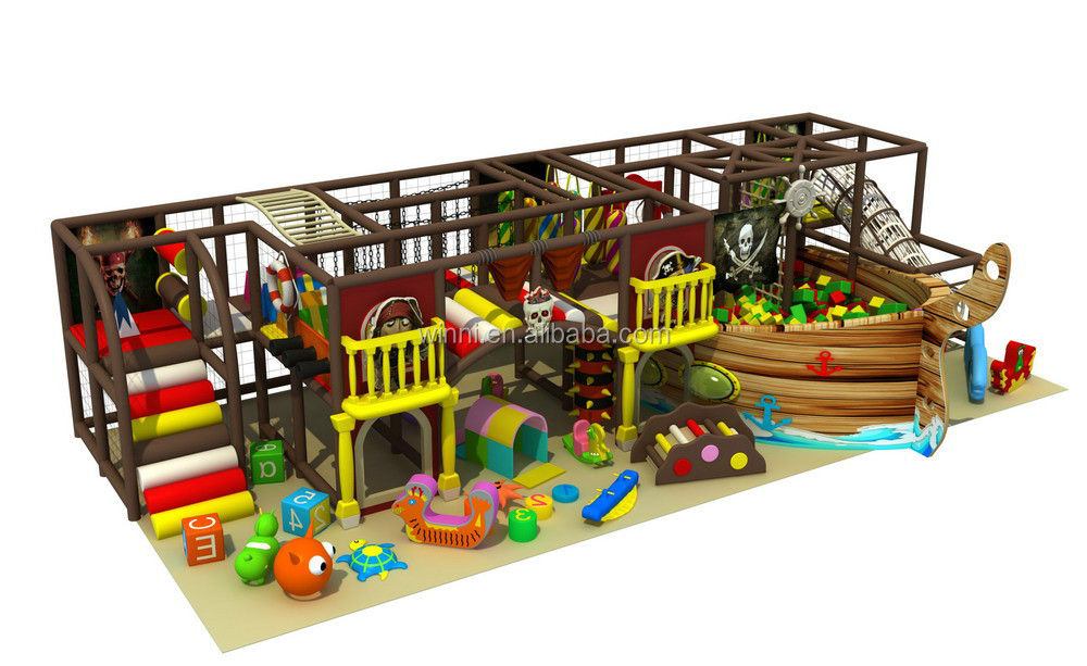 Best quality small soft pirate ship theme indoor playground for sale