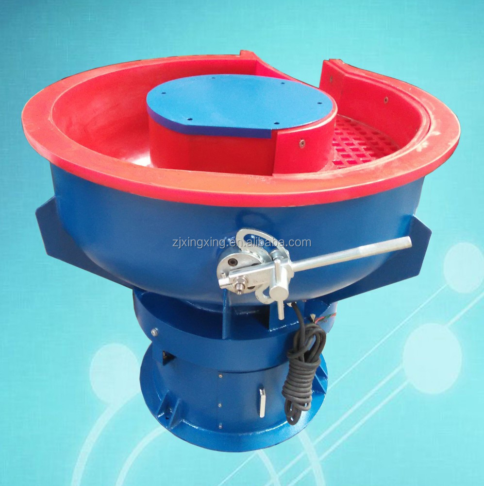 useful vibratory polisher surface finishing grinding tumbling machine with separate screen