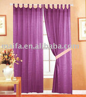 100% poly Voile Tab Top Sheer Curtain Panel, organza, panels