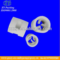 Heat Resistance Ceramic Pall rings, Ceramic Pall rings tower packing