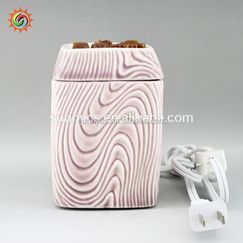 Promotion LED tart heating wax warmer oil burner ceramic