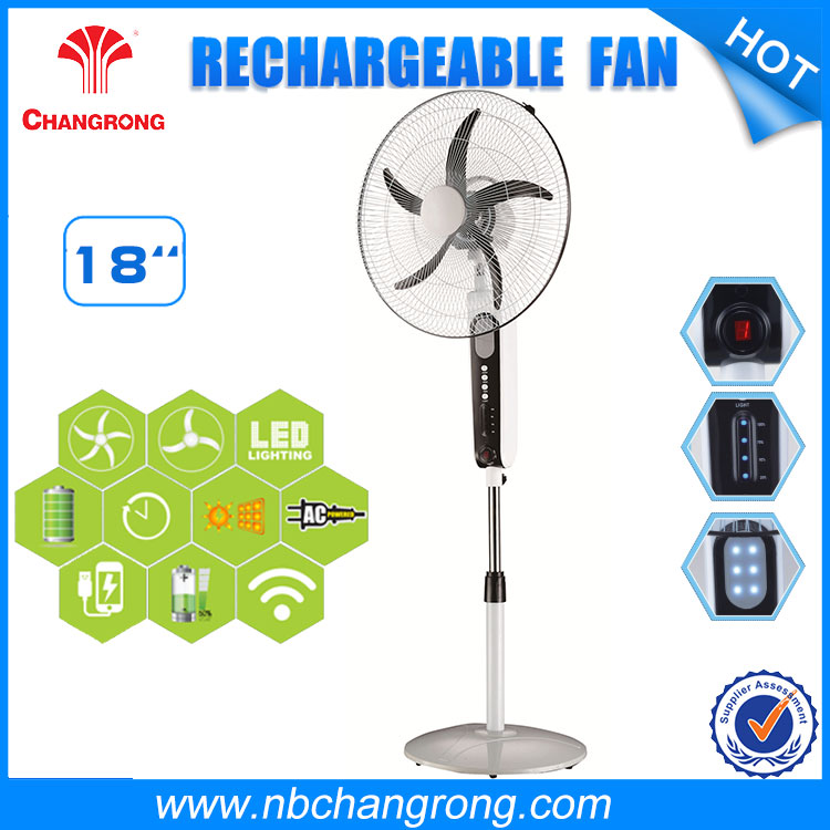 18 Inch Battery Operated Rechargeable Fan