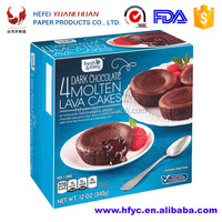 Cold chocolate lave cake box packaging