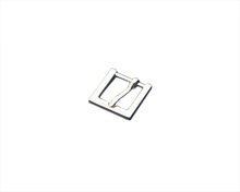 Fashion rectangle metal slider buckle silver zinc alloy blet buckle for man