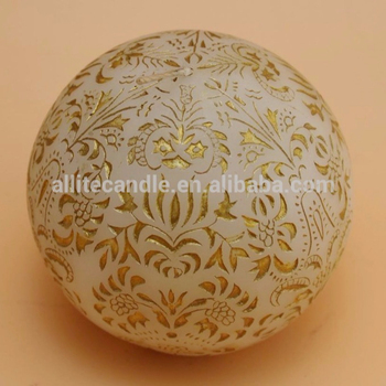 Allite artistic round ball candle with soy wax palm wax for home decoration