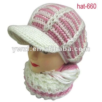 Free Knitting Pattern For Cushion Cover : One Piece Knitting Hat Scarf Knitting Pattern Set - Buy Knitting Hat Scarf Kn...