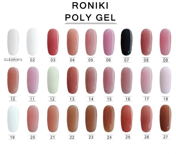 RONIKI OEM Sweet Color Poly Gel French Nail Free Sample UV Nail Crystal Gel