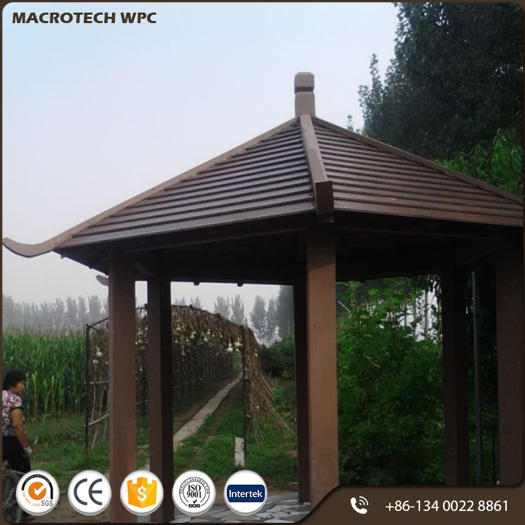 Easily Assembled most popular wpc hard wood pavilion