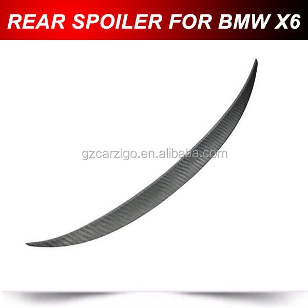 CARBON FIBER 08-12 X6 E71 PERFORMANCE REAR TRUNK SPOILER FOR BMW