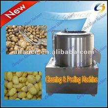 Alibaba express professional potato cleaning and peeling machine