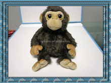 custom soft stuffed big eyes toys plush monkey