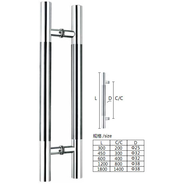 Condibe 304 stainless steel glass shower door <strong>handle</strong>
